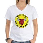 Get Out of my Way! Women's V-Neck T-Shirt