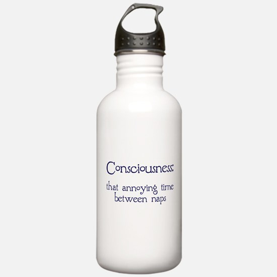 Consciousness Naps Water Bottle