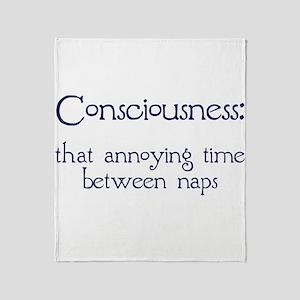 Consciousness Naps Throw Blanket