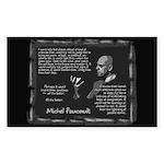 Foucault's Critique Sticker (Rectangle 50 pk)