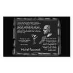 Foucault's Critique Sticker (Rectangle 10 pk)