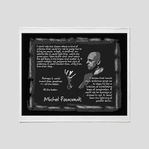Foucault's Critique Throw Blanket