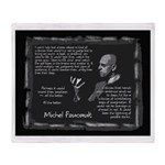 Foucault's Critique Throw Blanket