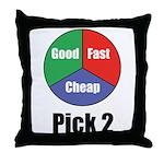 Good, Fast, Cheap Throw Pillow