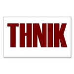 THNIK Sticker (Rectangle 10 pk)