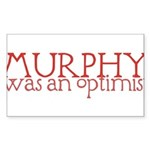 Murphy: Optimist Sticker (Rectangle 50 pk)