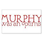 Murphy: Optimist Sticker (Rectangle 50 pk)