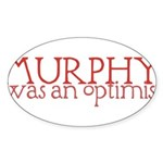 Murphy: Optimist Sticker (Oval 10 pk)