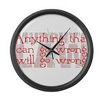 Murphy's Law Large Wall Clock