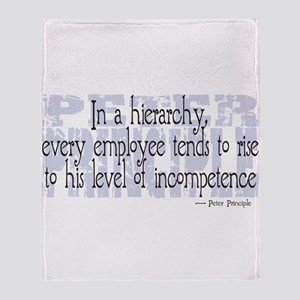 Peter Principle Throw Blanket