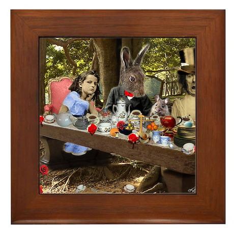 A Mad Tea Party (crop) Framed Tile