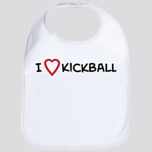 I Love Kickball Bib