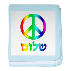 Shalom - Peace Sign baby blanket