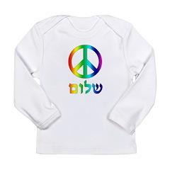 Shalom - Peace Sign Long Sleeve Infant T-Shirt