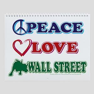 Peace Love Snowboard Wall Calendar