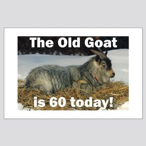 Old Goat is 60 Today Large Poster
