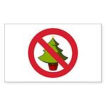 No Christmas Sticker (Rectangle 50 pk)