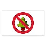 No Christmas Sticker (Rectangle 10 pk)