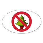 No Christmas Sticker (Oval 50 pk)