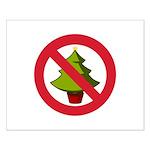 No Christmas Small Poster