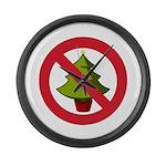 No Christmas Large Wall Clock