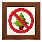 No Christmas Framed Tile