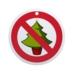 No Christmas Ornament (Round)