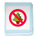 No Christmas baby blanket
