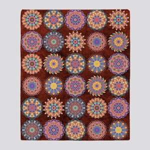 Multiple Kaleidoscopes Throw Blanket