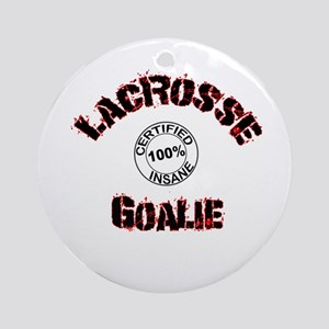 lacrosse Goalie Ornament (Round)