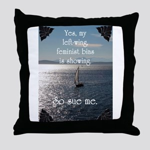 Leftwing Bias Throw Pillow