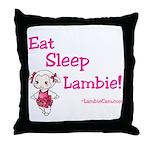 Eat Sleep Lambie Pillow