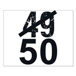 Great 50th Birthday Small Poster