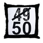 Great 50th Birthday Throw Pillow
