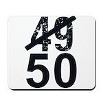 Great 50th Birthday Mousepad