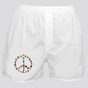 Christmas Peace Sign Boxer Shorts
