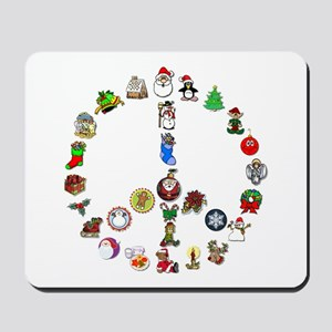 Christmas Peace Sign Mousepad