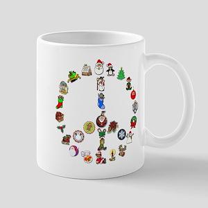 Christmas Peace Sign Mug