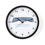 Auditing - Eye - Wall Clock