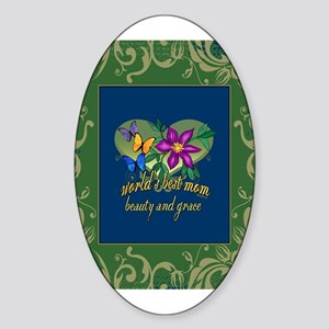 Beautiful Mom Sticker (Oval)