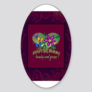 Beautiful Mommy Sticker (Oval)