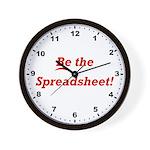 Be the Spreadsheet Wall Clock