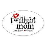 Twilight Mom Sticker (Oval 50 pk)