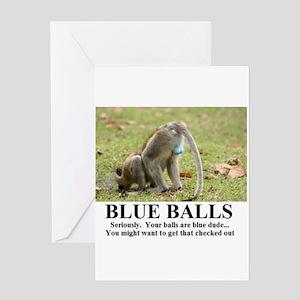 BLUE BALLS2 Greeting Cards