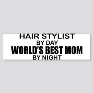 World's Best Mom - HAIR STYLIST Sticker (Bumper)