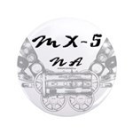 """MX-5 na 3.5"""" Button (100 pack)"""