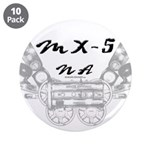 """MX-5 na 3.5"""" Button (10 pack)"""