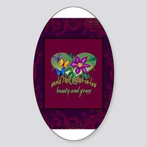 Beautiful Mother-in-law Sticker (Oval)