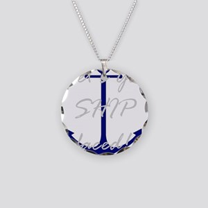 Let's Get Ship Faced Necklace Circle Charm