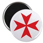 Red Maltese Cross Magnet